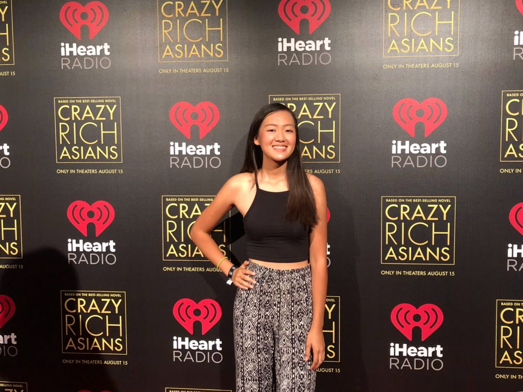 Katherine Ho at a Crazy Rich Asians fan premiere